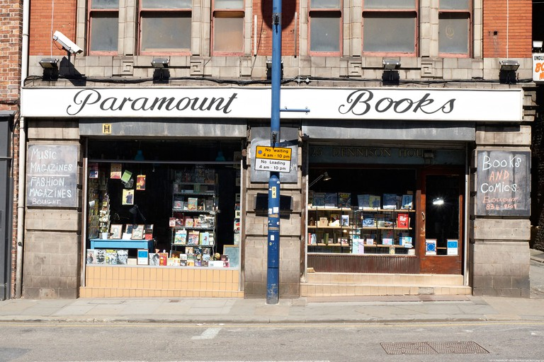 Paramount books exchange on Shudehill Manchester UK. Image shot 2013. Exact date unknown.