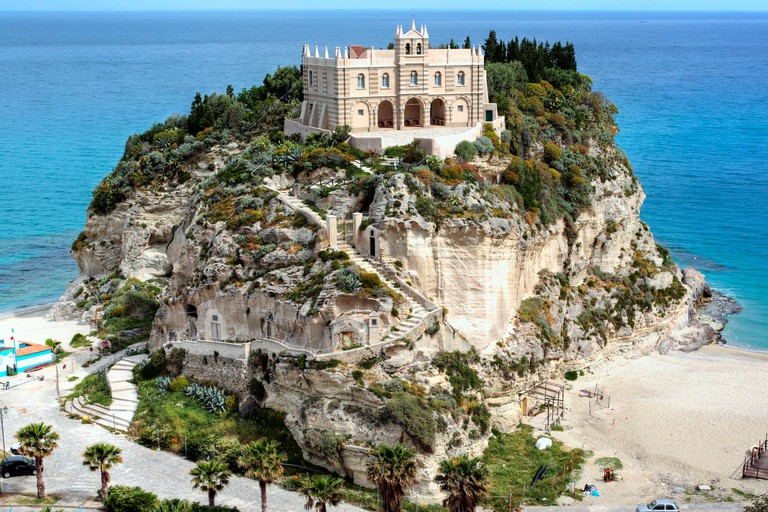 Church Santa Maria dell Isola on Isola Bella, Tropea, Calabria, Italy