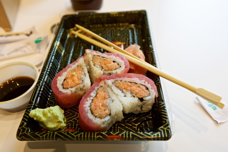 Sushi rolls from Sushi Maki at the Downtown Market, Grand Rapids, Michigan