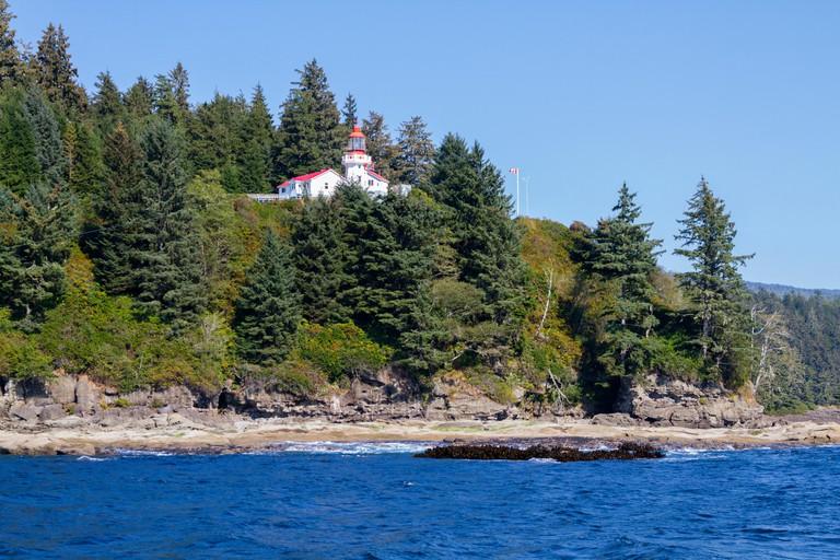 Canada, Pacific Rim National Park Reserve, West Coast Trail, Carmanah Point lighthouse