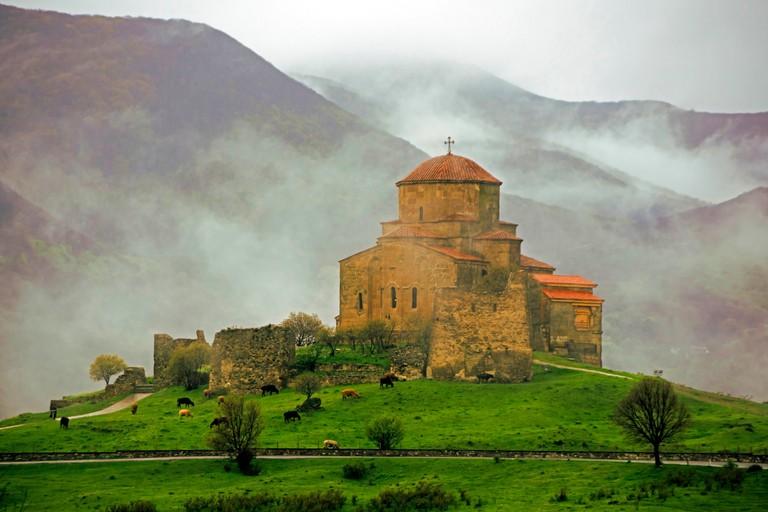Jvari (Holy Cross) Monastery in Mtskheta, Georgia.