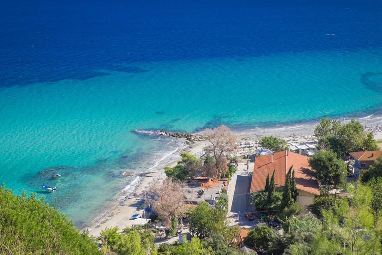 summer holiday in afytos,halkidiki,greece