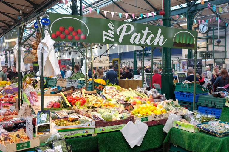 Fruit and vegetable stall at St. Georges Market, Belfast