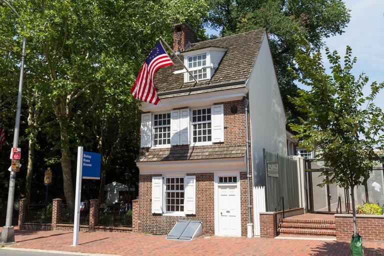 The Betsy Ross House in Philadelphia, Pennsylvania, United States.