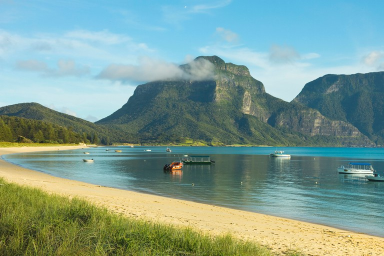 Mount Lidgbird and Mount Gower, Tasman Sea, Lord Howe Island, New South Wales, Australia, From white-sand beaches to the ochre-red outback, Australia is a beautifully diverse country to explore