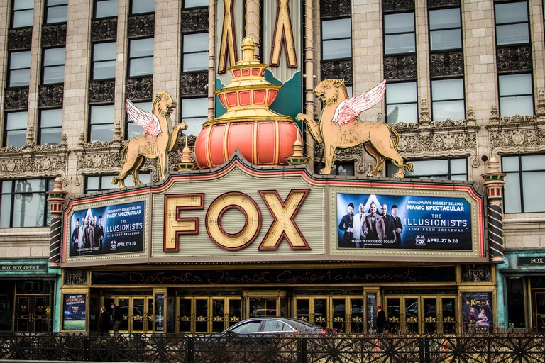 The historic Fox Theater in downtown Michigan opened in the 1920;s and remains in operation today. The historical venue features Broadway plays.