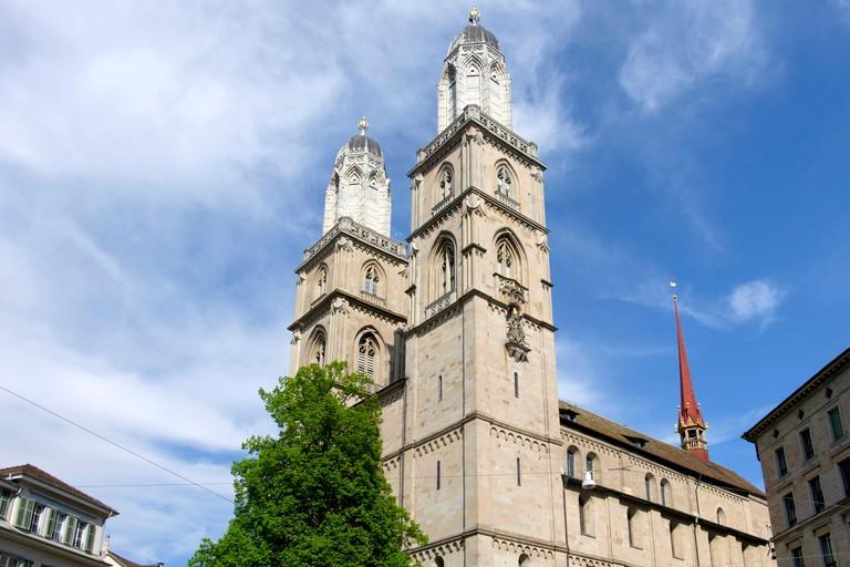 Grossmunster Cathedral in Zurich, Switzerland, Europe