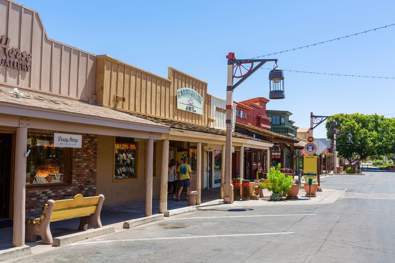 Shops in Old Town Scottsdale, Arizona, USA