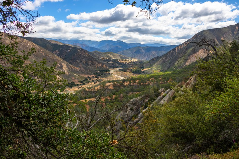Hills of Los Padres National Forest from Hurricane Deck Trail