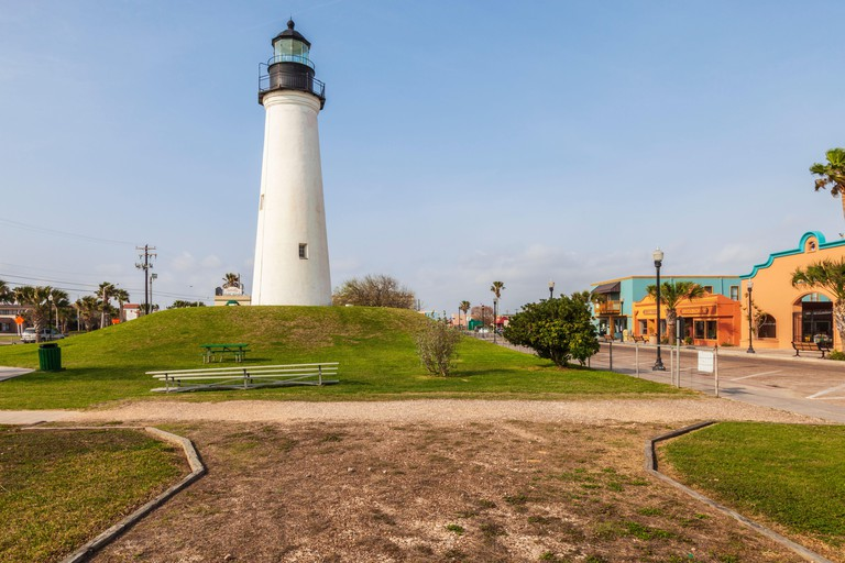 Port (Point) Isabel Lighthouse and Texas state historic site in Port Isabel, Texas.