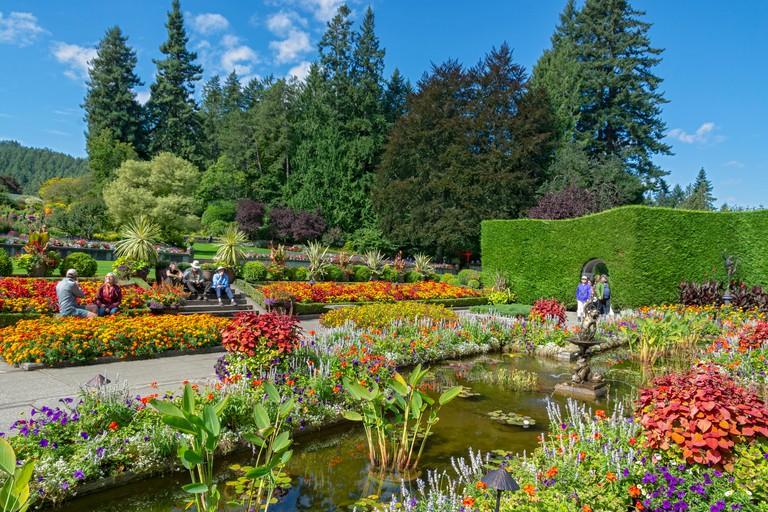 Canada, Brentwood Bay, Butchart Gardens, Italian Garden