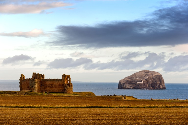 Tantallon Castle & Bass Rock, Scotland, UK
