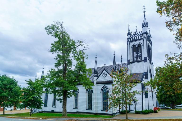 The St. Johns Anglican Church, in Lunenburg, Nova Scotia, Canada