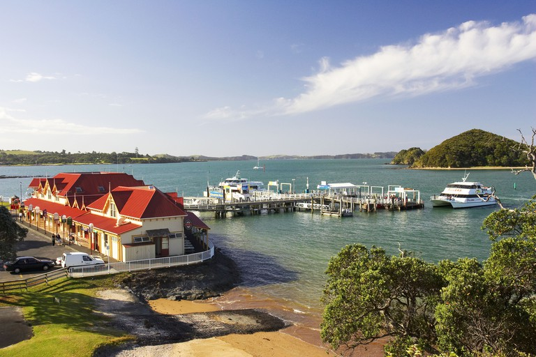 Fullers Building and Wharf Paihia Bay of Islands Northland New Zealand