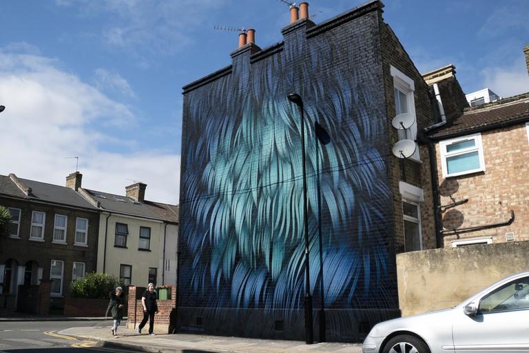 Adele Renault - London Mural Festival - 40 Water Ln, Maryland, E15 4NL