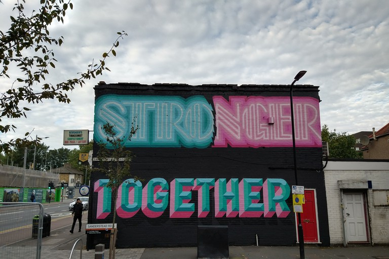 Ben Eine & Rachel Joy - London Mural Festival - 187 Lea Bridge Road, Leyton, E10 7PN