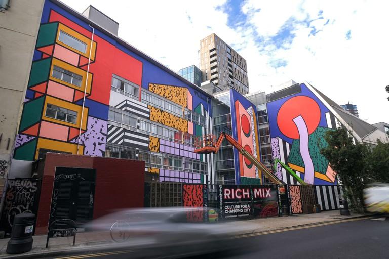 Camille Walala 1 (WIP) - London Mural Festival - Rich Mix, Redchurch Street, E1 6LA