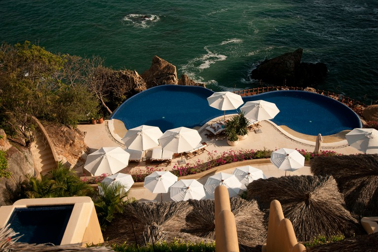 Capella Ixtapa luxury hillside resort hotel overlooking Pacific Ocean Ixtapa Mexico