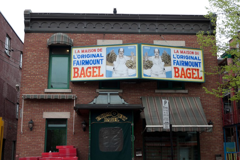 Fairmount Bagel bakery selling famous bagels exterior view in Montreal, Quebec, Canada  KATHY DEWITT. Image shot 05/2012. Exact date unknown.