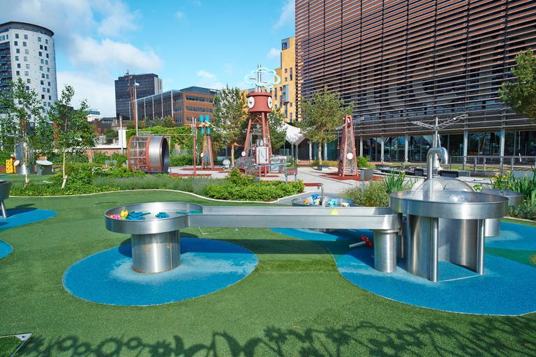The Science Garden outside the Think Tank Science Museum Millennium Point Birmingham UK