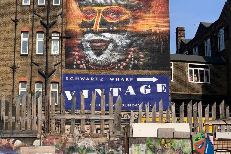 Dale Grimshaw - London Mural Festival - 92 White Post Ln, Hackney Wick, E9 5EN