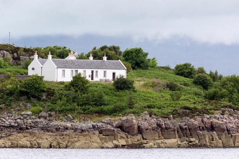 Gavin Maxwell Museum Situated between Kyleakin on the Isle of Skye and Kyle of Lochalsh  Eilean Ban ('White Island') Scotland UK