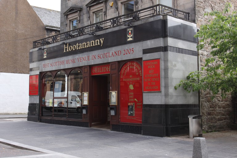 Exterior of Hootananny music venue Inverness Scotland  June 2010