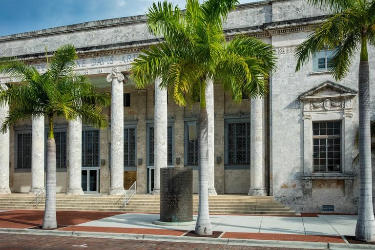 Sidney & Berne Davis Art Center on historic First Street, Fort Myers, Florida, USA