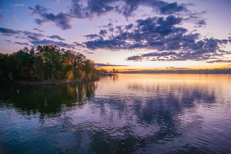sunset at lake wylie. Image shot 12/2013. Exact date unknown.
