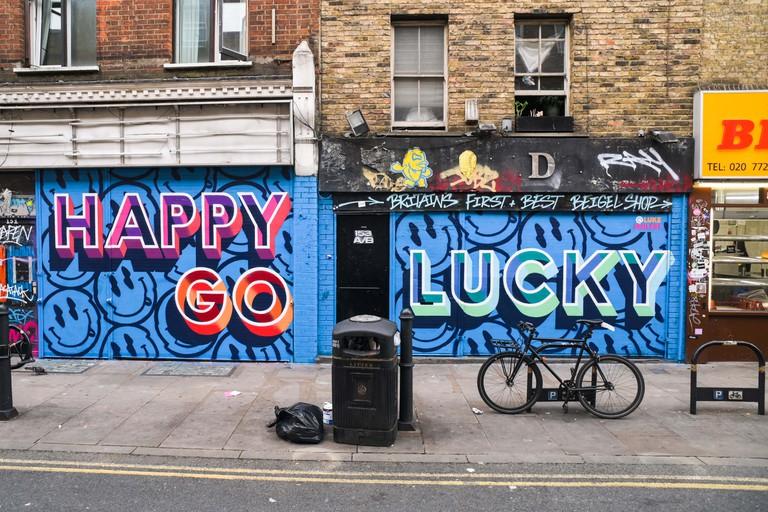 Luke Smile - London Mural Festival - 151 Brick Lane, Shoreditch, E1 6SB-