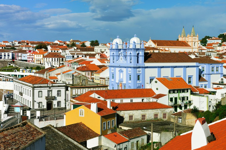 Historic centre of Angra do Heroismo, a UNESCO World Heritage Site. Terceira, Azores islands, Portugal