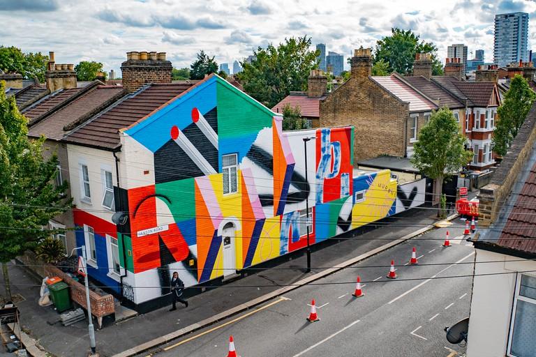 Mur0ne - London Mural Festival - 37 Cruickshank Rd E15 1SR