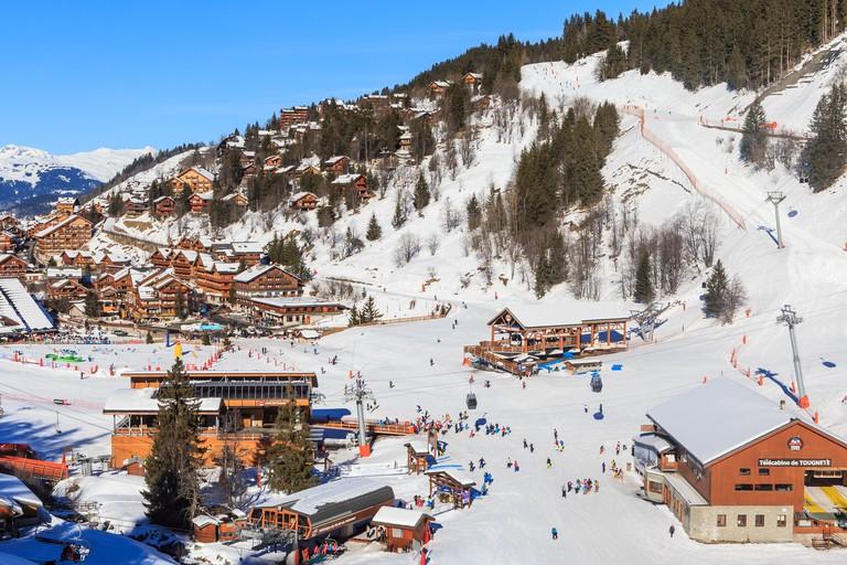 Ski resort of Meribel, France