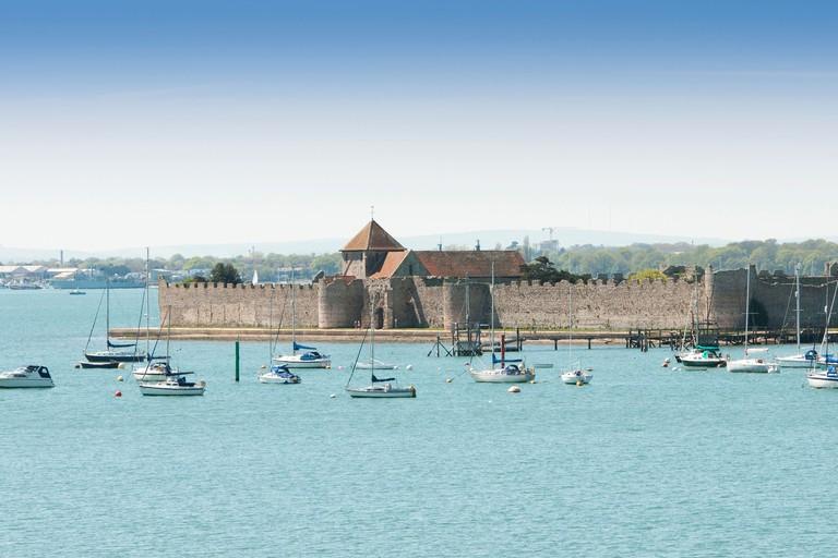 Portchester Castle, Portsmouth Harbour, Hampshire UK