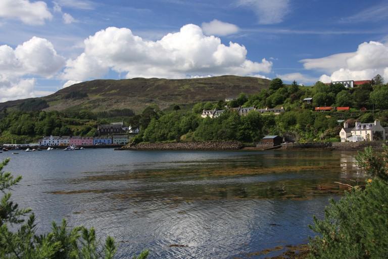 Portree Harbour, Isle of Skye, Scotland taken from Scorrybreac walk