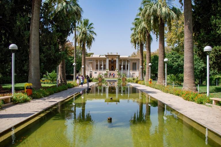 The Royal Mansion at Afif Abad Garden in Shiraz, Iran