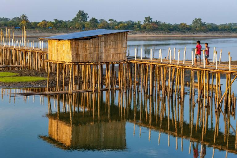 India, Assam, Majuli island on the Brahmapoutre river