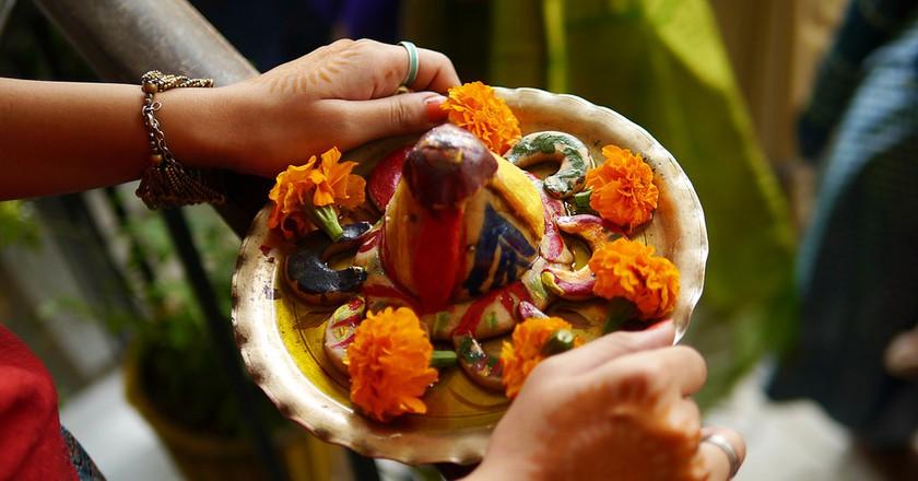 Traditional indian food in Delhi © jacob jung / Flickr