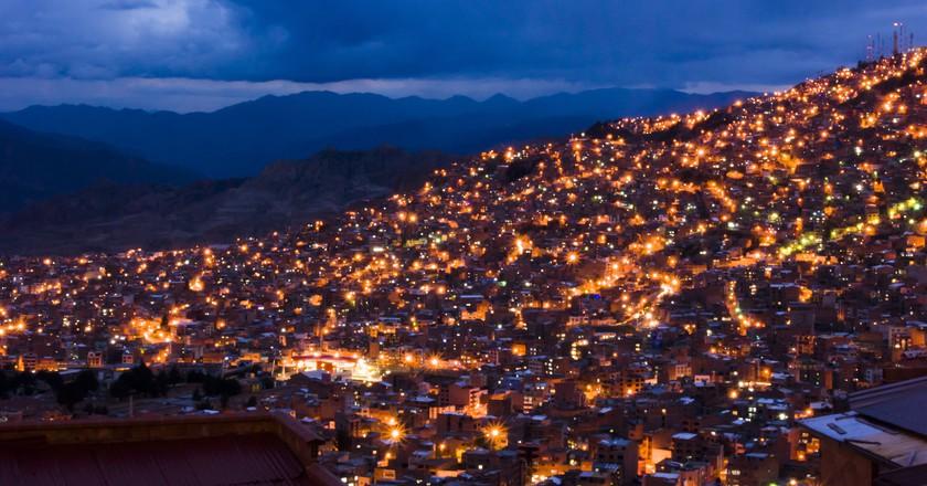 La Paz at Night | ©Gary A. Valenzuela/Flickr
