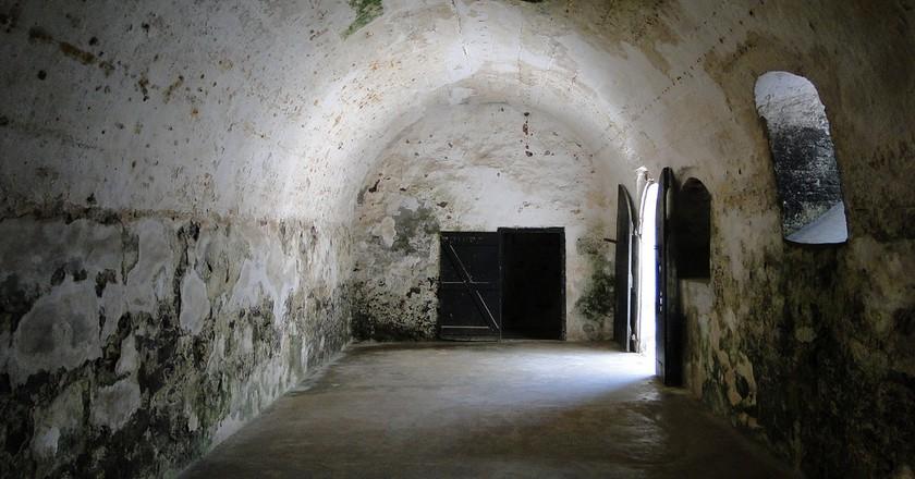 Interior of Slave Cells - St. George's Castle - Elmina - Ghana © Adam Jones