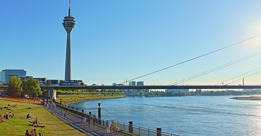 Rheinturm in Düsseldorf | © Philipp/Flickr