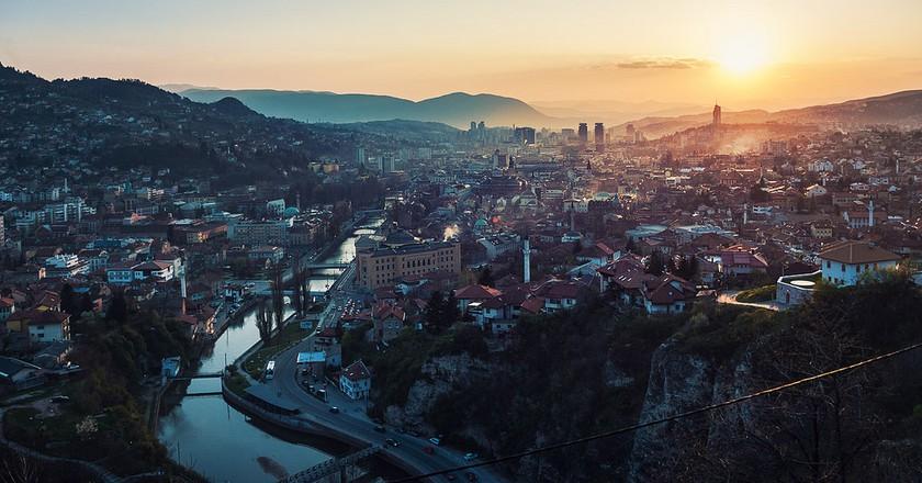 Sarajevo sunset ©Michał Huniewicz