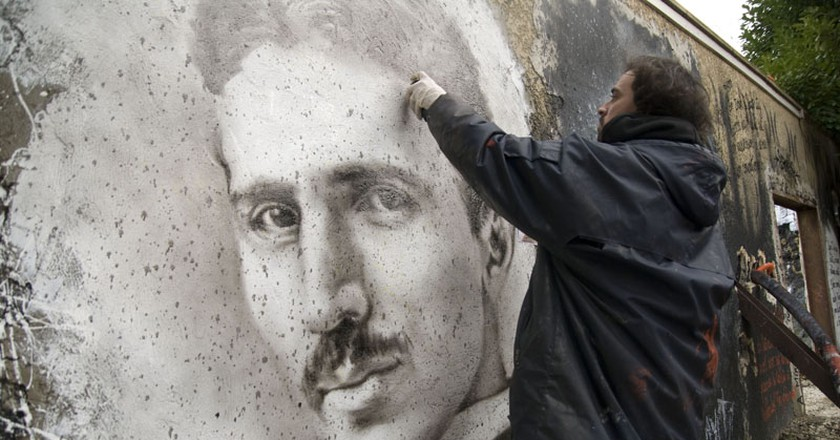 Nikola Tesla painted portrait _DDC3422 | © thierry ehrmann/Flickr