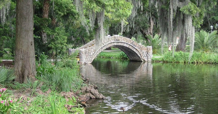 New Orleans City Park Bayou bridge | The Infrogmation of New Orleans/flickr