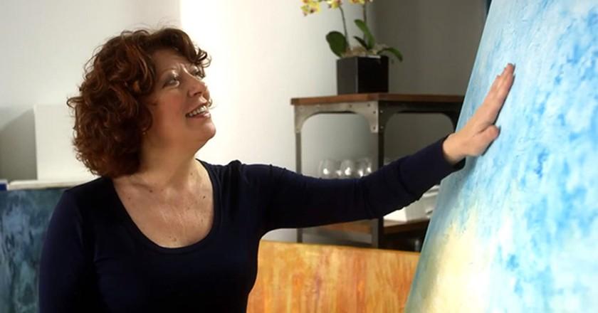 Clara-Berta-with-Artwork