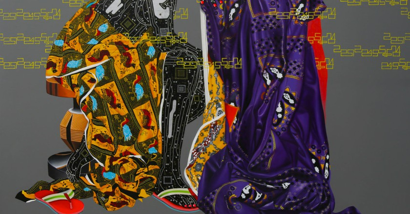 Eddy Kamuanga Ilunga Abandonnés 2015. Courtesy, October Gallery London