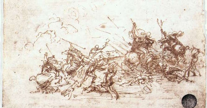 Leonardo da Vinci, The Battle of Anghiari,Study of battles on horseback and on foot, 1503-04 | © Leonardo da Vinci/WikiCommons