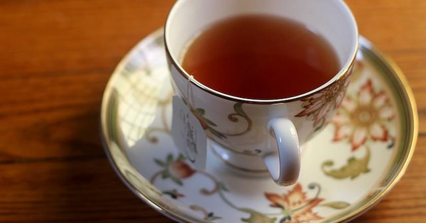 Choice Organic Tea on Red Oak Floor   © Tweetspeakpoetry/flickr
