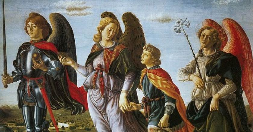Francesco Botticini, The Three Archangels with Tobias. c.1470  ©Eugene a / Wikicommons
