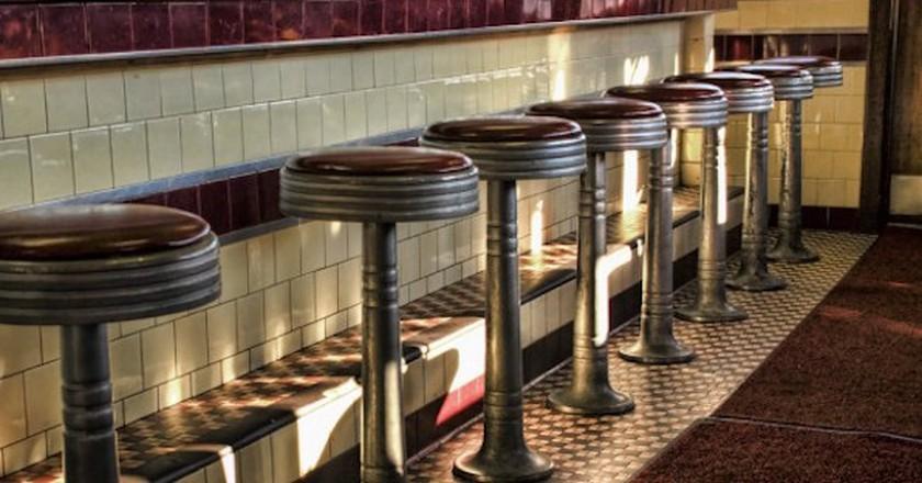 Diner Stools at Miss Woo   © liz west/ Flickr